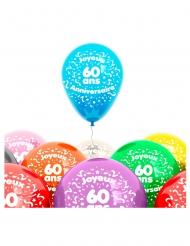 8 palloncini 60 anni