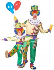 Costume coppia di clown padre e figlio