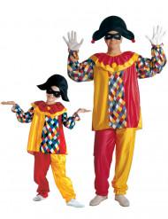 Costume coppia Arlecchino padre figlio