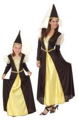Costume di coppia principesse madre e figlia