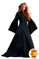Costume medievale nero donna - Premium