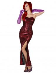 Costume soubrette sexy rosso adulto