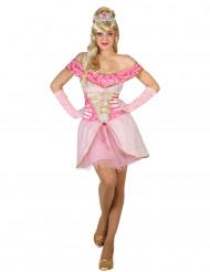 Costume principessa rosa sexy donna