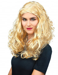 Parrucca riccia bionda per donna