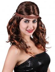 Parrucca da indiana castana donna