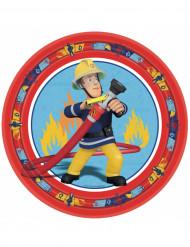 8 Piatti di carta Sam il pompiere™