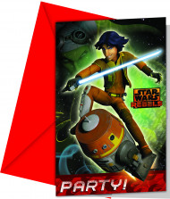 6 Cartoncini d'invito Star Wars Rebels™