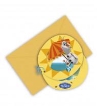 6 Cartoncini d'invito Olaf™
