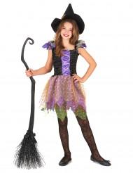 Costume strega colorata bambina