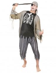 Costume pirata zombie uomo