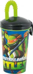 Bicchiere con cannuccia Tartarughe Ninja™