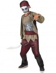 Costume pirata zombie bambino