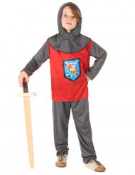 Costume cavaliere grigio e rosso bambino