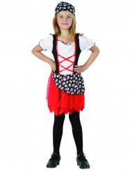 Costume pirata con mini teschi per bambina