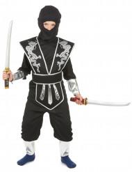 Costume ninja nero e argento per bambino