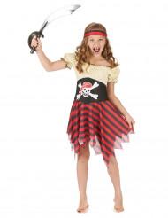 Costume da pirata con teschio per bambina