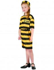 Costume bambina prigioniera giallo e nero
