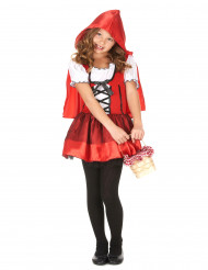 Costume abitino da cappuccetto rosso bambina