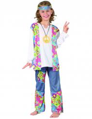 Costume hippy figlia dei fiori da bambina