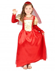 Costume medievale rosso bambina