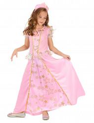 Costume principessa rosa delle stelle bambina