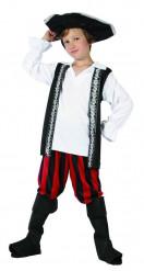 Costume da pirata filibustiere bambino