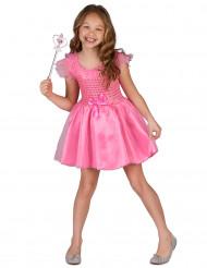 Costume principessa fucsia bambina
