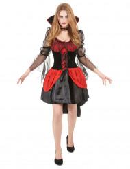 Costume vampiro nero e rosso per donna