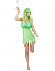 Costume fata verde donna