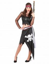 Costume pirata orli strappati donna