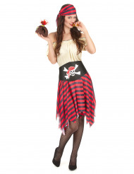Costume pirata a righe per donna