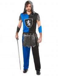 Costume cavaliere blu uomo