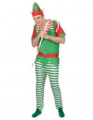 Costume elfo biricchino per uomo Natale