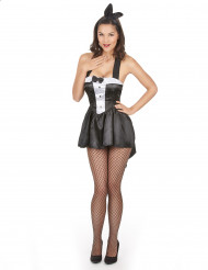 Costume coniglietta sexy stile smoking donna
