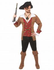 Costume da pirata con ricami per uomo