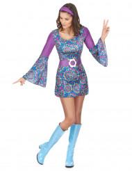 Costume hippie viola donna