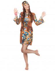 Costume Hippie disco e frange per donna