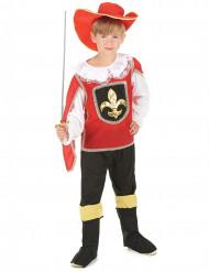 Costume Moschettiere rosso bambino