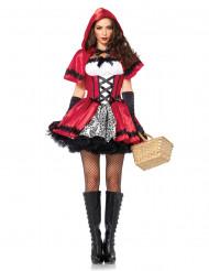 Costume cappuccetto rosso satinato donna