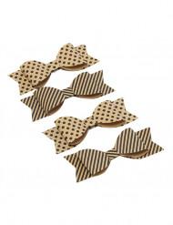 4 Fiocchetti di carta Kraft