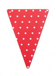 5 gagliardetti DIY rossi pois bianchi cartone