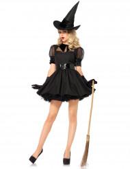 Costume strega di Halloween nero da donna