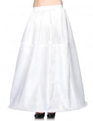 Sottogonna lungo bianco con cerchio adulto