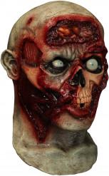 Maschera da zombie spaventoso e animato di Halloween