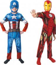 Costume coppia Capitan America™e Iron Man™bambino
