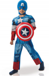 Costume Captain America™ versione lusso Bambino
