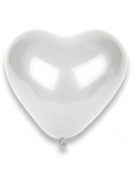 50 Palloncini a forma di cuore bianchi