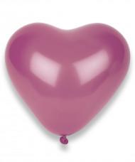 50 Palloncini a forma di cuore color fucsia