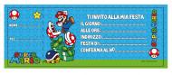 20 cartoncini d'invito Mario™