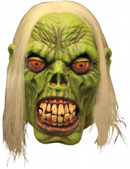 Maschera di Halloween per adulto da zombie verde